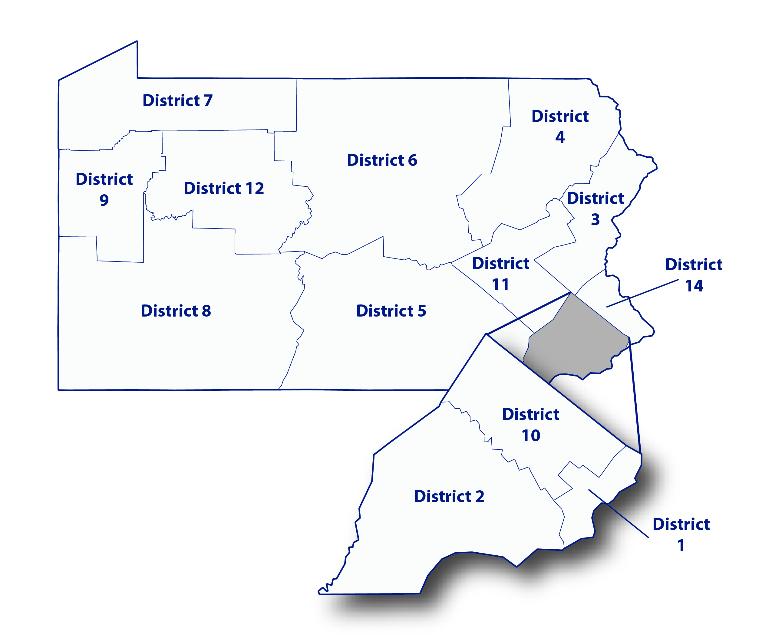 Map of POMA districts